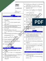 Model Paper Mathematics II Puc 3
