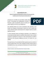 RC 11 Projecto de Regulamento Municipal dos Horários de Funcionamento dos Estabelecimentos Comerciais do Concelho