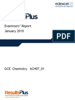 Chemistry Unit 7 6CH07 January 2010 ER