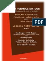 Menu Carte - 2011. 04 - Les Barjots