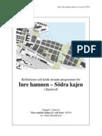 Stadsplanering - Analys av Inre Hamnen Och Södra Kajen i Sundsvall