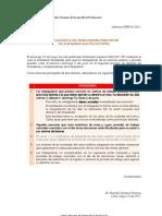 Segunda Vuelta Electoral 2011 - Facilidades para la votaciòn de los Trabajadores