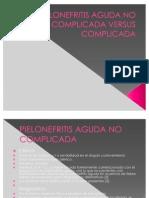 Pielonefritis Aguda No Complicada Versus Complicada