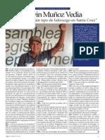 """No existe ningún tipo de liderazgo en Santa Cruz"" Entrevista a Edwin Muñoz Vedia"