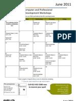 June 2011 Workshops Calendar