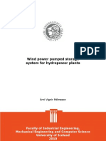 Wind Power Pumped Storage System for Hydro Power Plants