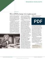 MicroRNAs Keep Microglia Quiet