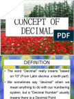 Concept of Decimal
