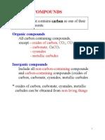 1 Introduction to Carbon Compounds