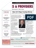 Payers & Providers Midwest Edition – Issue of May 24, 2011