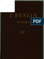 WORKS OF STALIN VOL 10