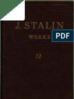 WORKS OF STALIN VOL 12