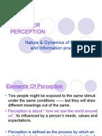 Perception & Learning