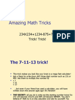Amazing Math Tricks