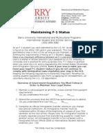 Maintaining F 1Status