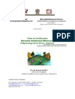 PROGRAMA Taller de Certificacin Derecho Ambiental... Chilpancingo 2011