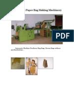 Automatic PaperBag Making Machinery