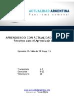 Aprendiendo Con Actualidad Argentina - Episodio 20
