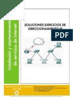 Soluciones Ejercicios Direccionamiento Ip