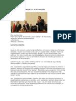 Discurso Presidencial 21 de Mayo 2011