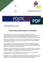 Kendrick Meek New Chairman of Politic365