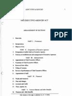 Executive Agencies Act