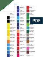 Tabela de Cores Pantone