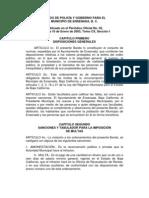 Bando de Policia y Buen Gobierno Del Municipio de Ensenada