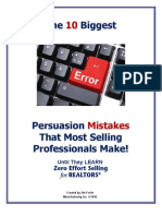 The 10 Biggest Persuasion Mistakes Selling Professionals Make
