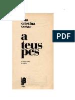 A Teus Pes -Ana Cristina Cesar Cruz