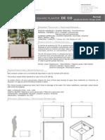 Mobiliario urbano Proiek - Jardinera cuadrada DeCo