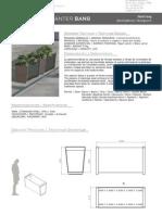 Mobiliario urbano Proiek - Jardinera Bang