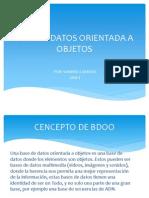 Base de Datos Orientada a Objetos-presentacion