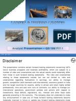 L&T Analyst Presentation - 9M FY11- Final