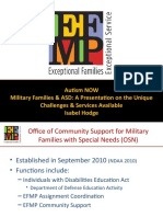 Department of Defense Webinar with Autism NOW May 12, 2011