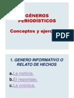GENEROS PERIODISTICOS