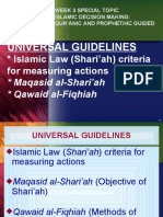 Islamic Decision Making Islamic Ethical Values MAQ