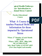 Flyer for Operational Stress Control MCAS Miramar