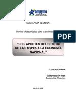 Los Aportes Del Sector de Las Mypes a La Economia Nacional