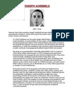 Joseph Goebbels - Nazi Propaganda Minister