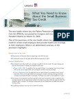 Small Business Tax Credit