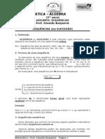 FICHA DE AULA - SEQUÊNCIAS