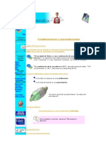 Combinaciones y permutaciones