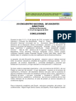 Conclusiones Del Xiv Encuentro Nacional 18.8.10