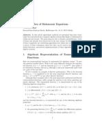 The Algebra of Holonomic Equations