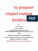 How to Prepare Impact Making Biodata in the Context of Companies in Bikaner