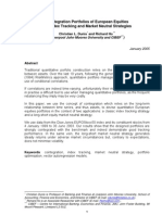 Cointegration Portfolios of European Equities for Index Tracking and Market Neutral Strategies