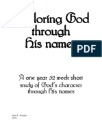 Exploring God Through His Names