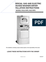 Maytag Installation Instructions for Washer Dryer Models MLG19PD, MLE19PD