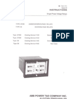 Protection Under Voltage Relay